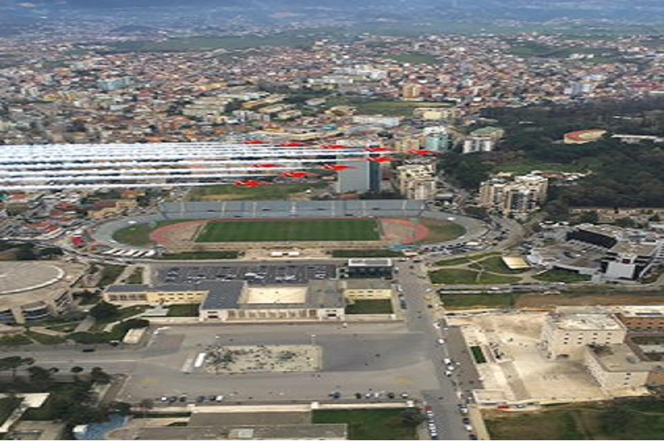 flypast over Tirana