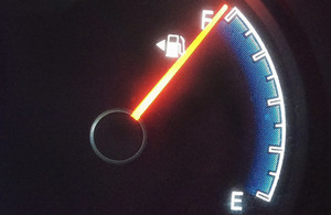 Car fuel gauge.