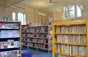 One of Warwickshire's community libraries: Harbury.