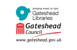 Gateshead libraries and Gateshead council logos