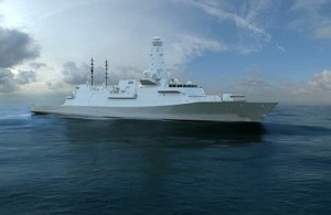 Computer Generated Image of the future Type 26 Global Combat Ship for the Royal Navy.
