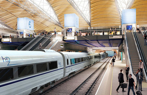 Proposed HS2 Euston station.