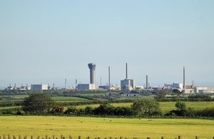 View of Sellafield site, west Cumbria