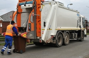 Bin lorry fitted with a surveillance camera.