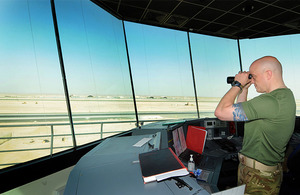 The new Air Traffic Control Tower at Camp Bastion in Helmand