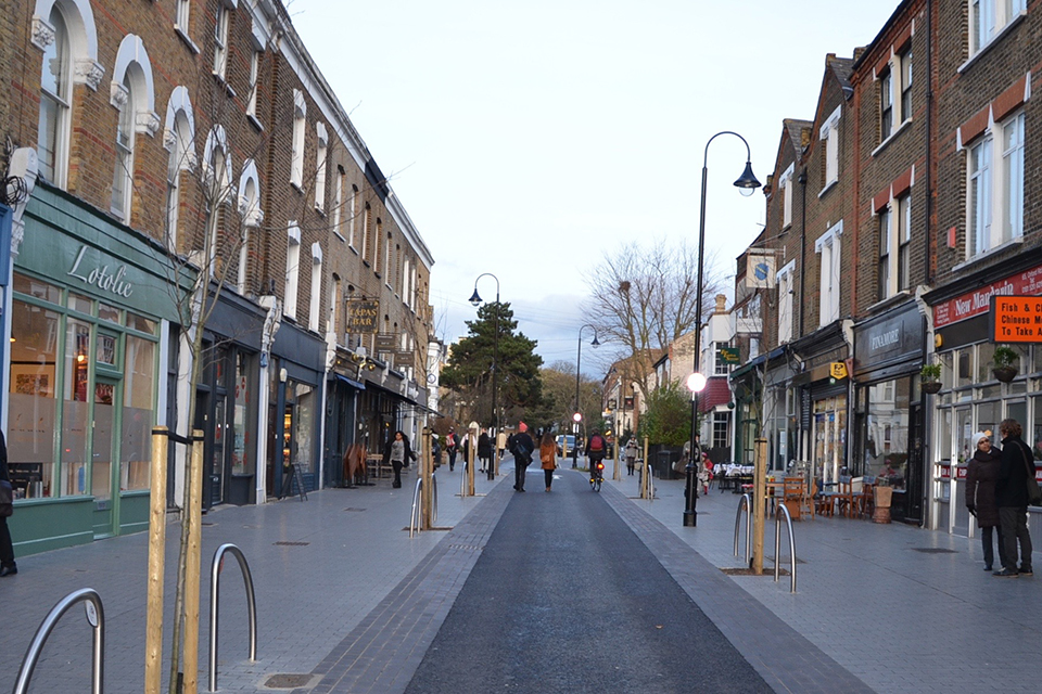 Orford Road after completion