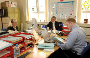 Ministry of Defence civilian personnel at work