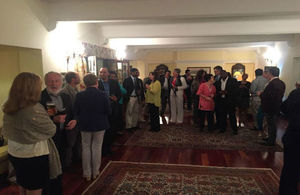 Celebrating Kevin Govender's award at Cape Town residence