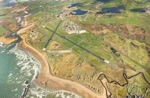 Aerial view of RAF Valley. MOD Crown Copyright.