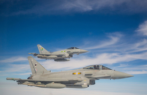 RAF Typhoon. Crown Copyright.