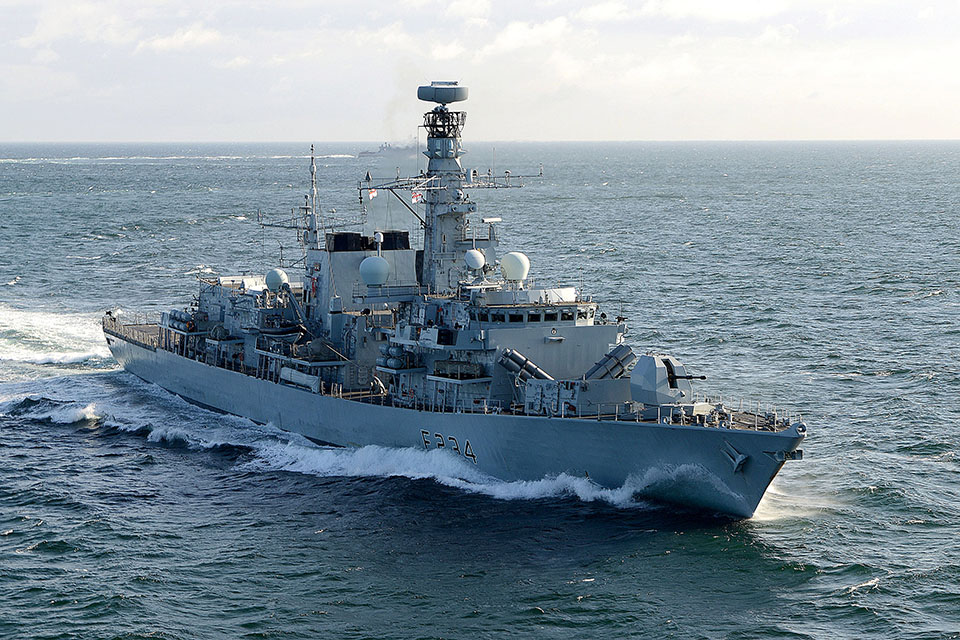 HMS Iron Duke. Crown Copyright.