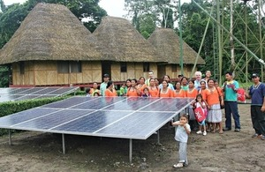 Solar panels for Añangu community
