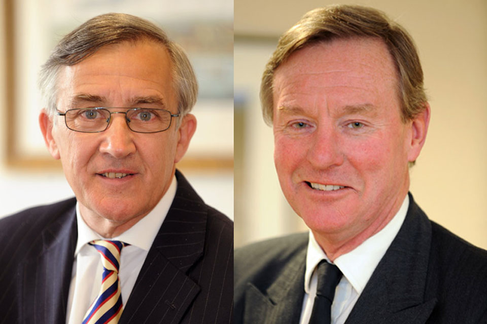 Minister for International Security Strategy, Gerald Howarth (left), and Minister for Defence Personnel, Welfare and Veterans, Andrew Robathan