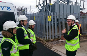 Oliver Letwin and team visit flood defence projects in Sheffield