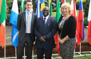 Joe Bolton, Livingstone Sewanyana and Alison Blackburne