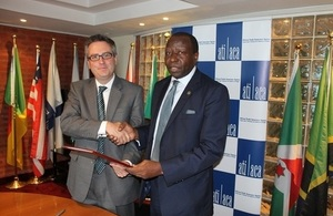British High Commissioner to Kenya, Nic Hailey, and ATI CEO, George Otieno