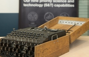 Enigma machine used during World War Two to deipher German signals