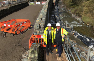 Repairs to the A591 storm damage.