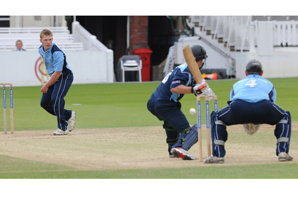 The Royal Navy batting against the RAF