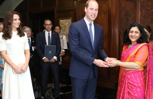 The Duke and Duchess of Cambridge award MBE to Shireen Mistry