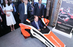 The Duke Cambridge tries a virtual lap in M2Electro simulator