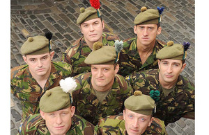 The seven hackles of The Royal Regiment of Scotland
