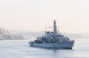 HMS Montrose arrives home at Plymouth Sound
