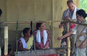 The Duke and Duchess of Cambridge in Assam