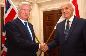 UK Secretary of Defence with Lebanese Minister of Defence