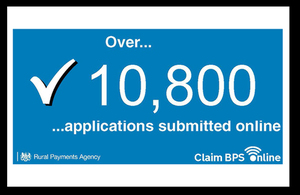 Over 10,800 applications submitted online