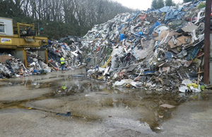 Pic of illegal waste site