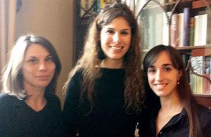 Kings College alumni Simone Schmitt (centre) with fellow committee members