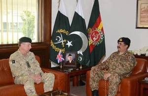 THE UK'S CHIEF OF THE GENERAL STAFF VISITS PAKISTAN