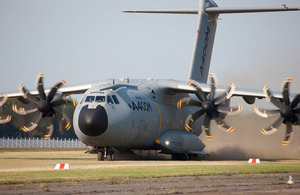 The RAF's Airbus A400M transport aircraft will be known as Atlas (stock image)