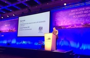 George Freeman MP at BioTrinity Conference