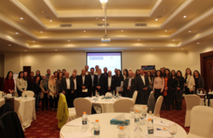 Group picture of the Jordanian Chevening and BUAA alumni at the charitable quiz night