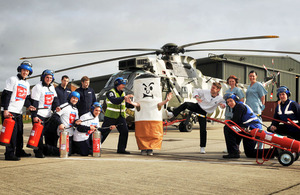 Personnnel at Royal Naval Air Station Yeovilton promote No Smoking Day
