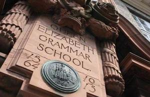 Image: Queen Elisabeth Grammar School sign