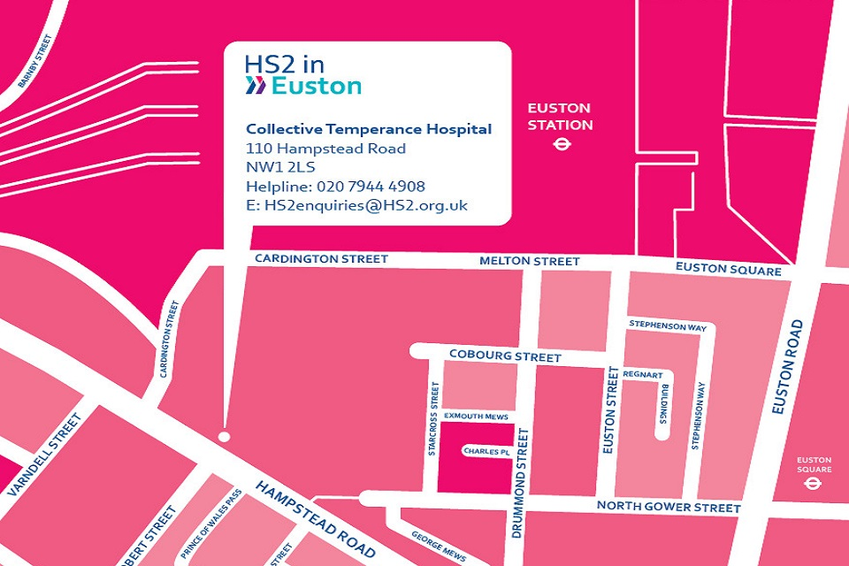 HS2 Euston map