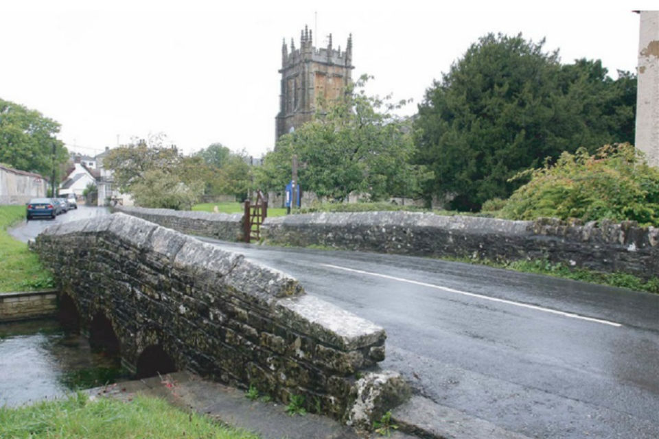 The former Charminster Bridge, which flooded in 2014