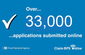 Image of text saying Over 33,000 applications submitted online