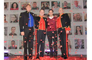 From left: Lance Corporal Ryan Idzi, Staff Sergeant Ritchie Maddocks, Gethin Jones and Sergeant Major Gary Chilton