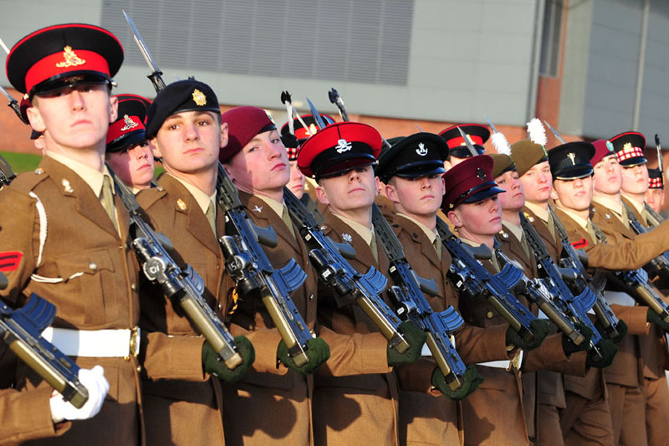 Junior Soldiers graduating from the Army Foundation College Harrogate