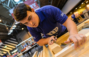 Conor Willmott, joinery apprentice with Paul Jackson Carpentry and Joinery.