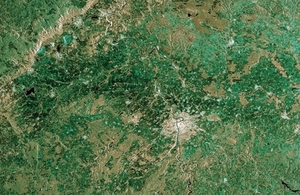 Sentinel-1A image over Prague.