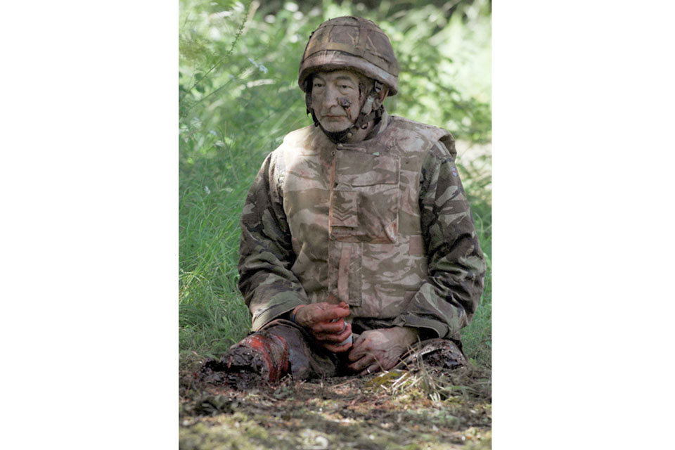 Using real amputees provides a level of realism to battlefield casualty training