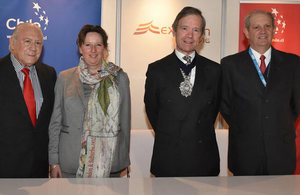 The Lord Mayor of London, HMA Fiona Clouder and Executives of Expomin Mining Exhibition.