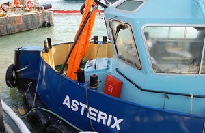 Asterix being recovered