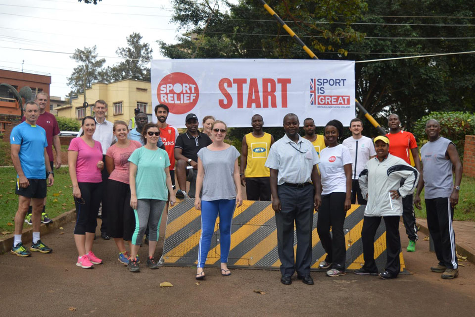 Sport Relief Mile 2016 in Kampala