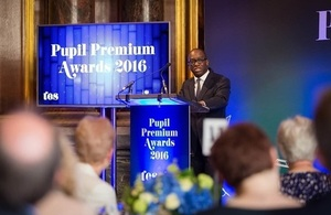 Sam Gyimah at the 2016 Pupil Premium Awards